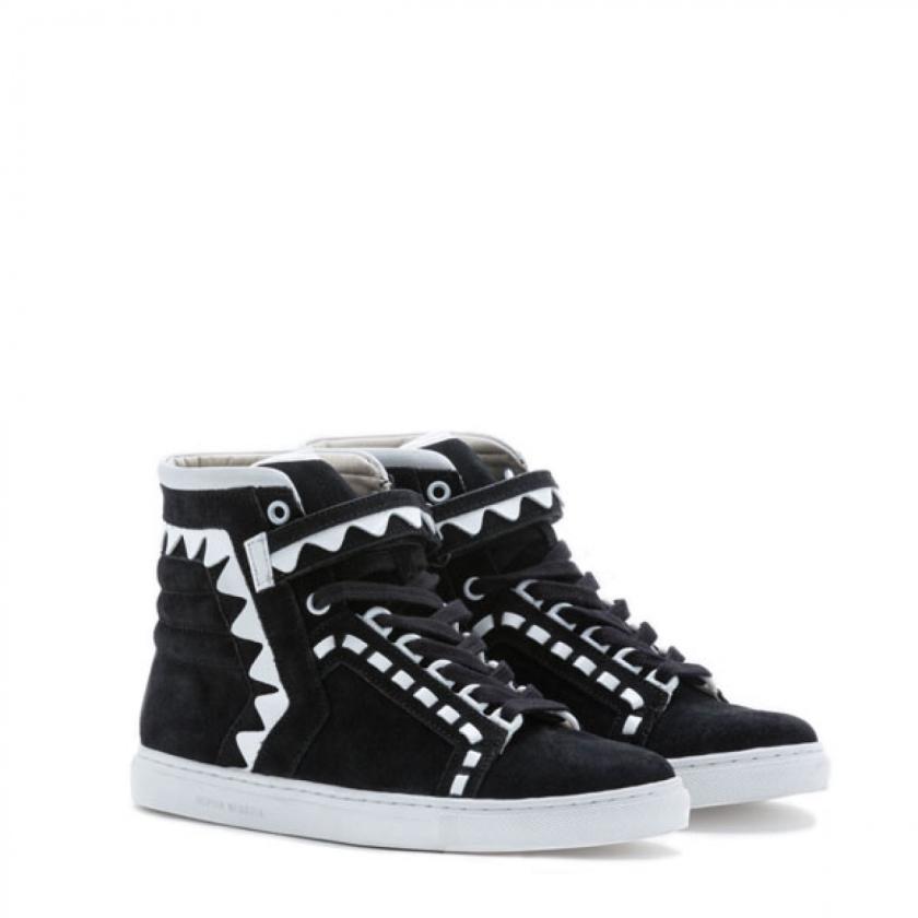 Sophia Webster Riko High Top Black Sneaker 2