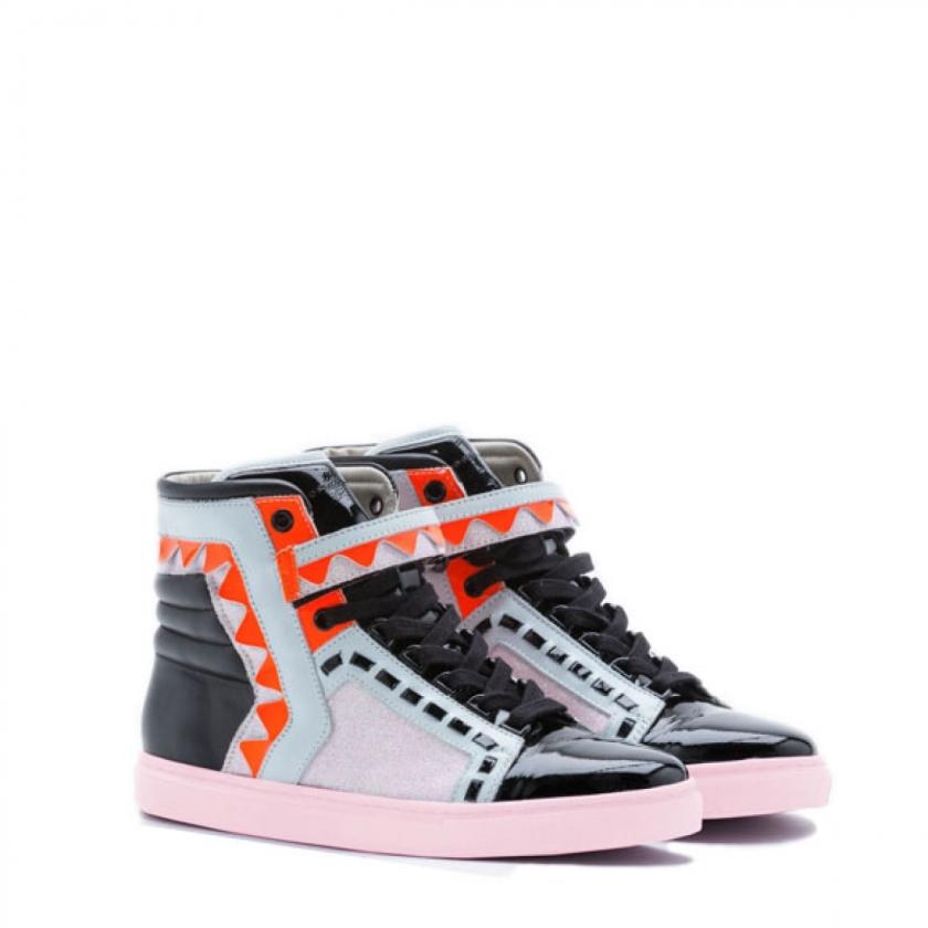 Sophia Webster Riko High Top Glitter Sneaker 2